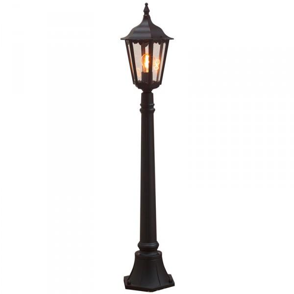 lantaarnpaal met 1 lantaarn 100 cm hoog zwart. Black Bedroom Furniture Sets. Home Design Ideas